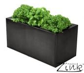 L50cm Zinc Pewter Kitchen Herb Planter - By Primrose®