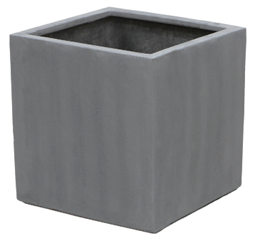 30cm Polystone Grey Cube Planter – Set of 2