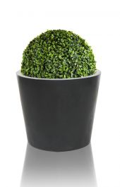 Black Polystone Round Planter – Set of 3