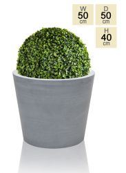 50cm Polystone Large Grey Round Planter