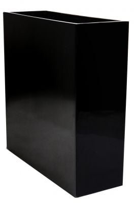 L90cm Tall Trough Fibreglass  Gel Coat Planter in Black - By Primrose®