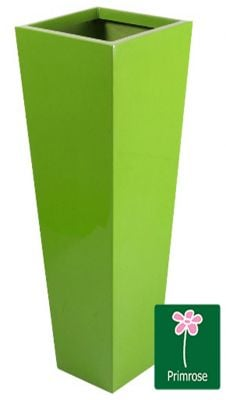H90cm Fibreglass Flared Square Gel Coat Planter in Lime Green - By Fibre-G™