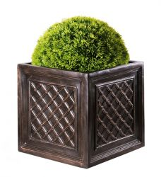 Fibreglass Lattice Cube Planter - 25cm