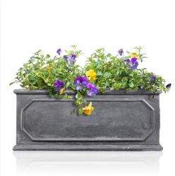 Fibreglass Lead Trough Planter - 67x36x24cm