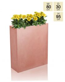 Tall Terracotta Fibrecotta Trough Planter - H95cm x W80cm