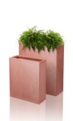 Classic Tall Terracotta Fibrecotta Trough Planters - Set of 2