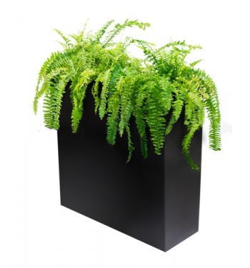 L95cm Zinc Tall Trough Planter with Insert - By Primrose®