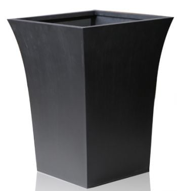 H44cm Black Square Flared Planter - By Primrose®
