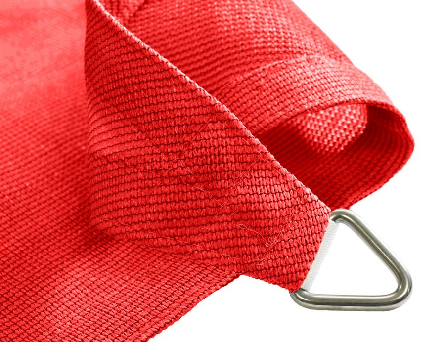 Kookaburra® 2m Triangle Red Breathable Party Shade Sail (Knitted 185gsm)