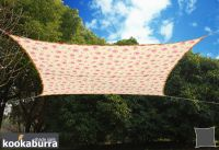 Kookaburra® 3m Square Rose Pattern Waterproof Woven Shade Sail