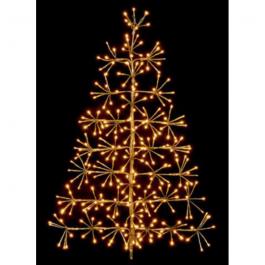 60cm Gold Tree Christmas Wall Decoration with Warm LED's