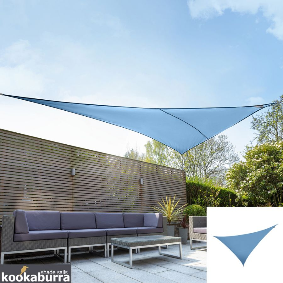 Kookaburra® 6m Right Angle Triangle Azure Waterproof Woven Shade Sail