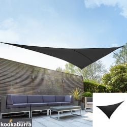 Kookaburra® 6m Right Angle Triangle Black Waterproof Woven Shade Sail