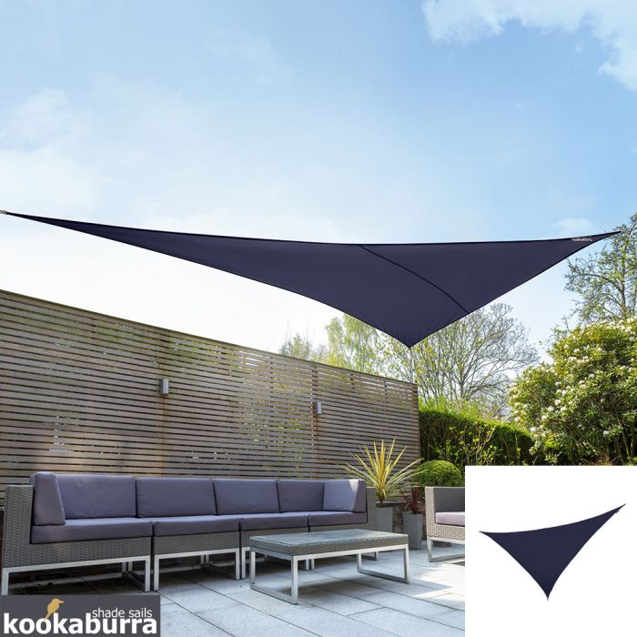 Kookaburra® 6m Right Angle Triangle Blue Waterproof Woven Shade Sail