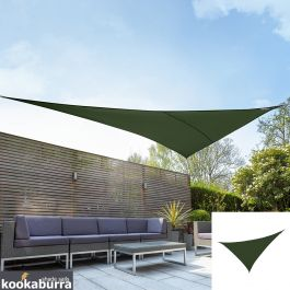 Kookaburra® 6m Right Angle Triangle Green Waterproof Woven Shade Sail