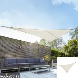 Kookaburra® 6m Right Angle Triangle Ivory Waterproof Woven Shade Sail