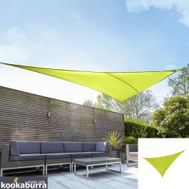Kookaburra® 6m Right Angle Triangle Lime Green Party Sail Shade (Woven - Water Resistant)
