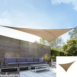 Kookaburra® 6m Right Angle Triangle Mocha Brown Party Sail Shade (Woven - Water Resistant)