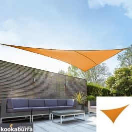 Kookaburra® 6m Right Angle Triangle Orange Party Sail Shade (Woven - Water Resistant)
