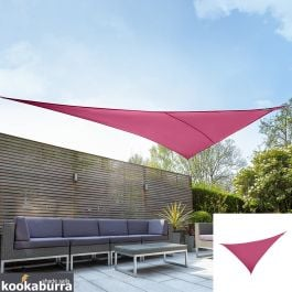 Kookaburra® 6m Right Angle Triangle Pink Waterproof Woven Shade Sail