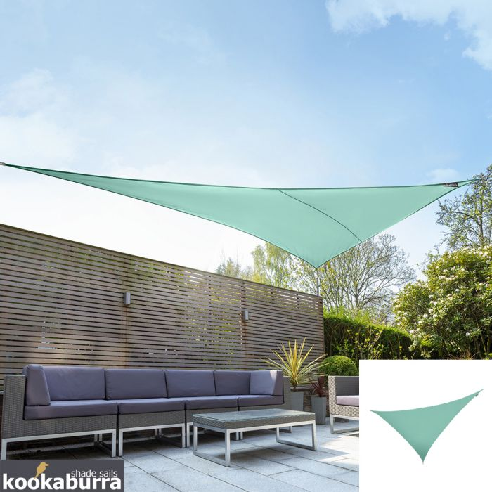 Kookaburra® 6m Right Angle Triangle Turquoise Waterproof Woven Shade Sail