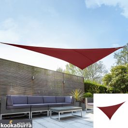 Kookaburra® 6m Right Angle Triangle Wine/Burgundy Waterproof Woven Shade Sail