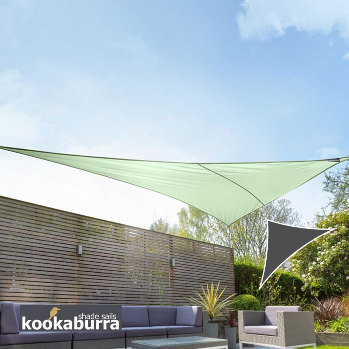 Kookaburra® 6m Right Angle Triangle Mint Waterproof Woven Shade Sail