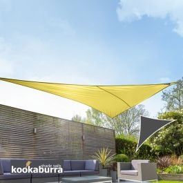 Kookaburra® 6m Right Angle Triangle Yellow Party Sail Shade (Woven - Water Resistant)