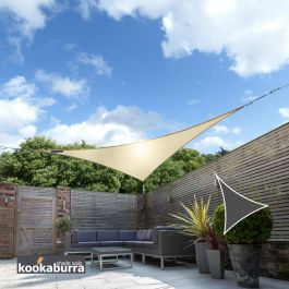 Kookaburra® 2m Triangle Sand Breathable Party Shade Sail (Knitted 185gsm)