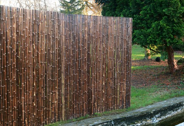 Thick Carbonised Black Bamboo Fencing Screening Roll 1.9m x 1.8m (6ft 2in x 6ft) - By Papillon™