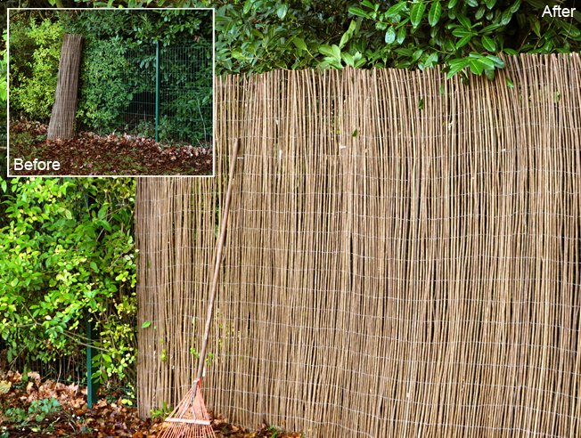 4.0m x 1.5m Willow Fencing Screening Rolls by Papillon™