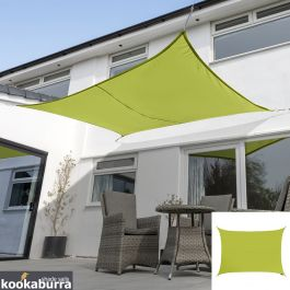 Kookaburra® 6mx5m Rectangle Lime Green Waterproof Woven Shade Sail