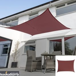 Kookaburra® 3mx2m Rectangle Marsala Red Waterproof Woven Shade Sail