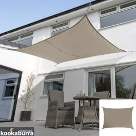Kookaburra® 6mx5m Rectangle Mushroom Waterproof Woven Shade Sail