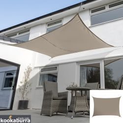 Kookaburra® 6mx5m Rectangle Mushroom Party Sail Shade (Woven - Water Resistant)