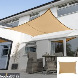 Kookaburra® 4mx3m Rectangle Peach Waterproof Woven Shade Sail