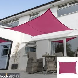 Kookaburra® 3mx2m Rectangle Pink Waterproof Woven Shade Sail