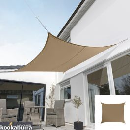 Kookaburra® 3m Square Mocha Brown Party Sail Shade (Woven - Water Resistant)