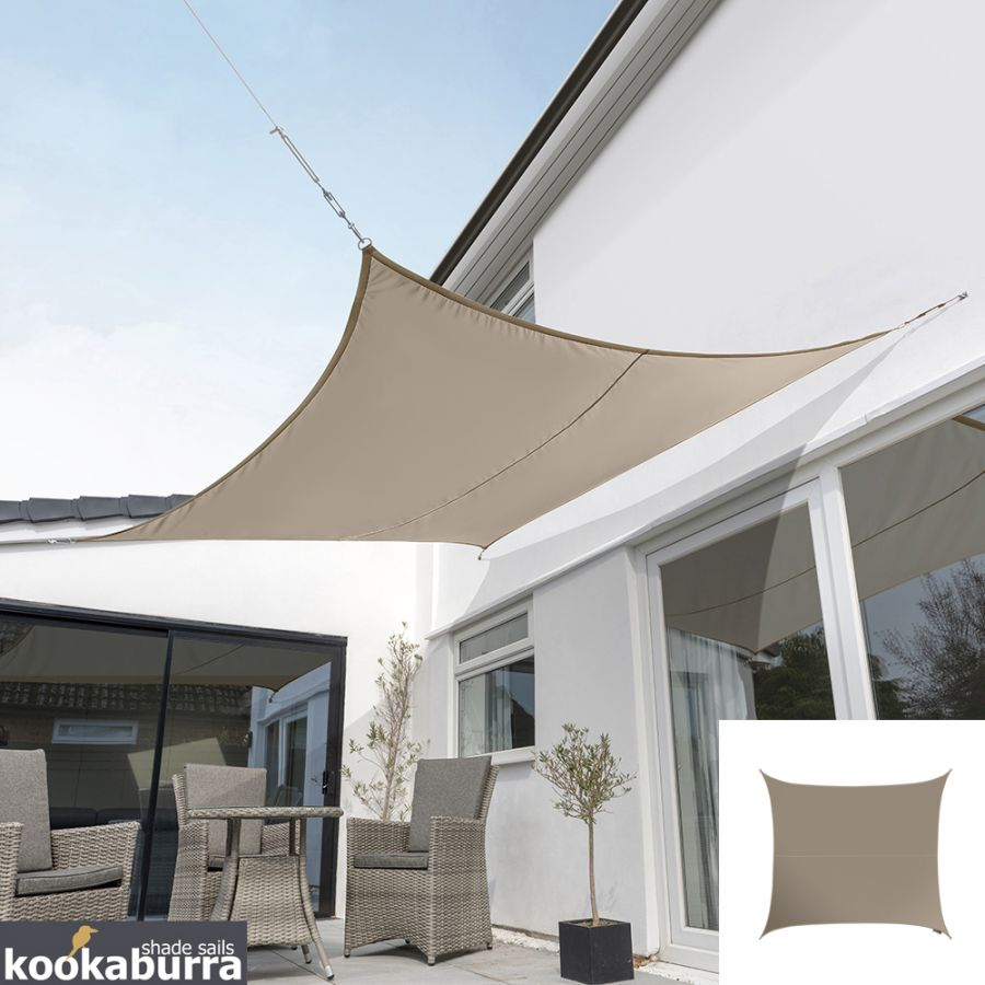 Kookaburra® 5.4m Square Mushroom Party Sail Shade (Woven - Water Resistant)