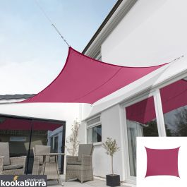 Kookaburra® 3m Square Pink Waterproof Woven Shade Sail