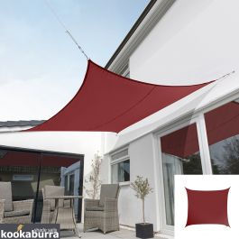 Kookaburra® 3m Square Wine/Burgundy Waterproof Woven Shade Sail