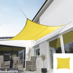 Kookaburra® 5.4m Square Yellow Waterproof Woven Shade Sail