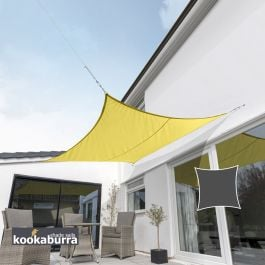 Kookaburra® 3m Square Yellow Waterproof Woven Shade Sail