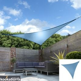 Kookaburra® 3m Triangle Azure Waterproof Woven Shade Sail