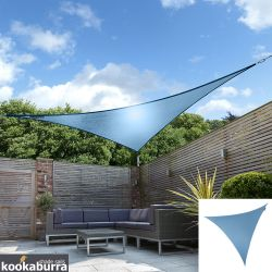 Kookaburra® 3.6m Triangle Azure Waterproof Woven Shade Sail