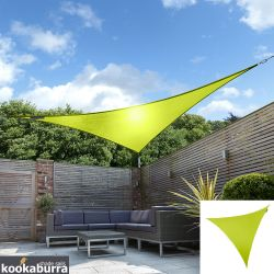 Kookaburra® 2m Triangle Lime Green Party Sail Shade (Woven - Water Resistant)