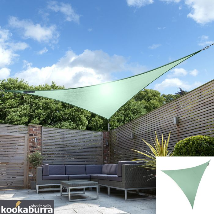 Kookaburra® 3m Triangle Mint Waterproof Woven Shade Sail