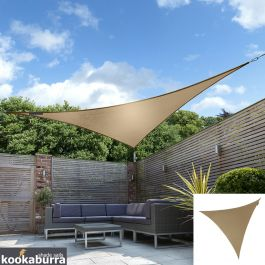 Kookaburra® 3m Triangle Mocha Brown Party Sail Shade (Woven - Water Resistant)