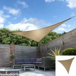 Kookaburra® 5m Triangle Mocha Brown Party Sail Shade (Woven - Water Resistant)