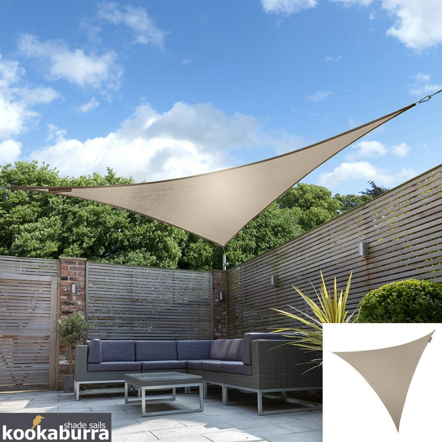 Kookaburra® 5m Triangle Mushroom Party Sail Shade (Woven - Water Resistant)